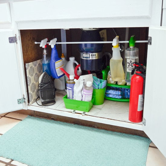 Organize the space below your sink.