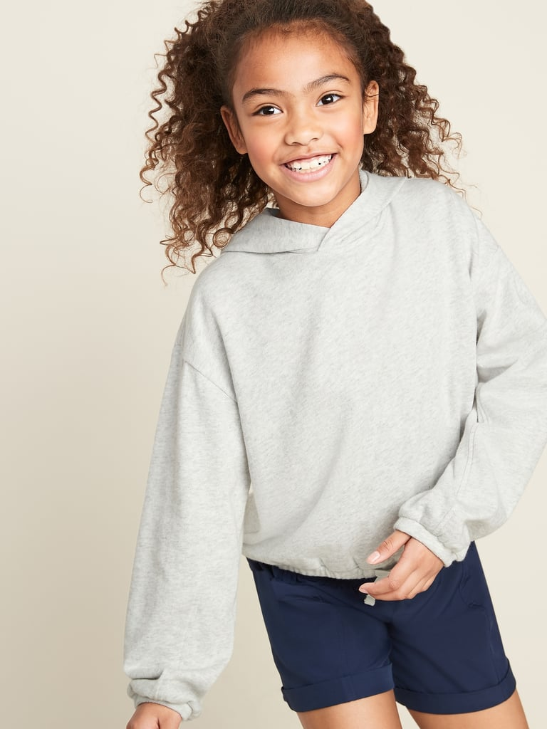Old Navy Cropped French Terry Pullover Hoodie