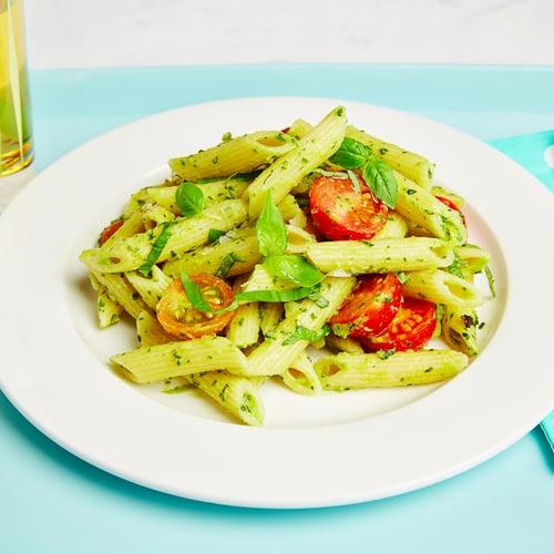 Avocado and Cherry Tomato Pasta