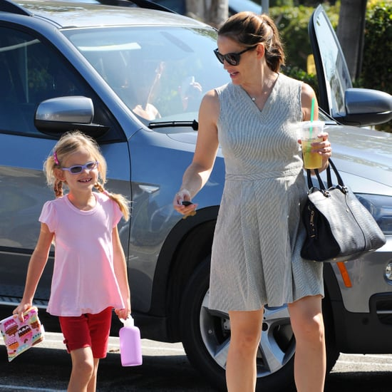 Jennifer Garner With Violet at Gymnastics