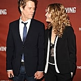 Kevin couldn't take his eyes off of Kyra at the screening for The Following in Hollywood in April 2013.