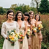 The golds and creams in this bridal party group really came together beautifully.