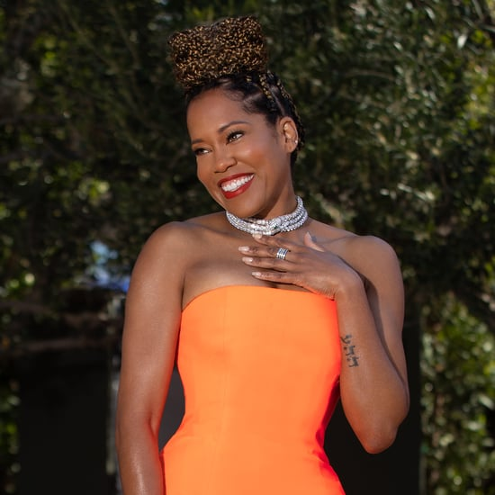Regina King Wears Neon Christopher John Rogers Gown