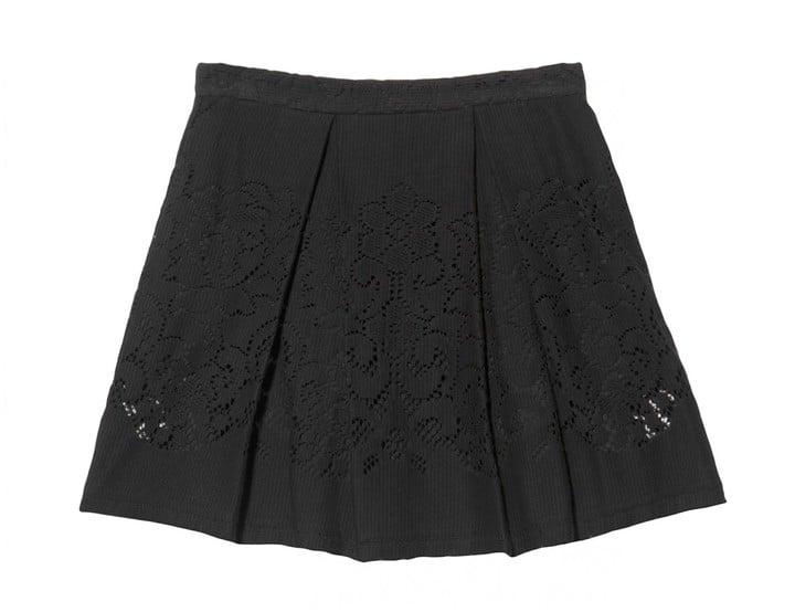 Sea Pleated Eyelet Skirt