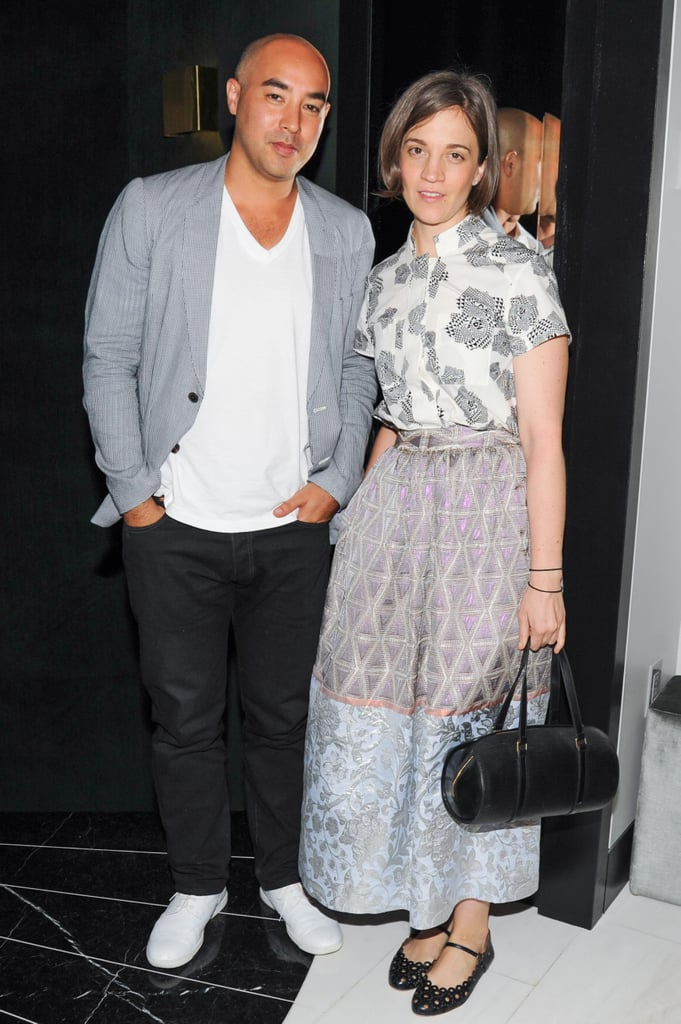 Max Osterweis and Erin Beatty at Swarovski and Fivestory's party for the 2013 CFDA Award nominees in New York. Source: Neil Rasmus/BFAnyc.com