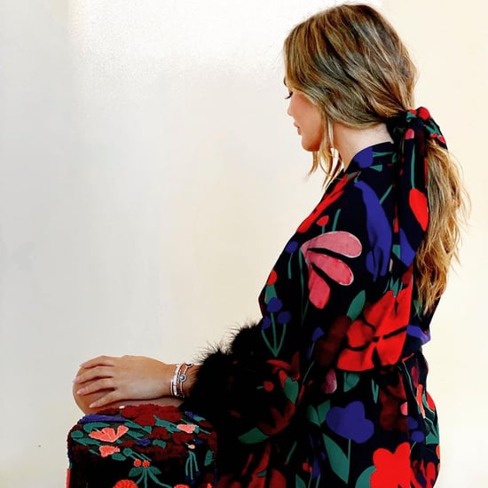 See Chrissy Teigen's Floral Bathrobe and Matching Cake