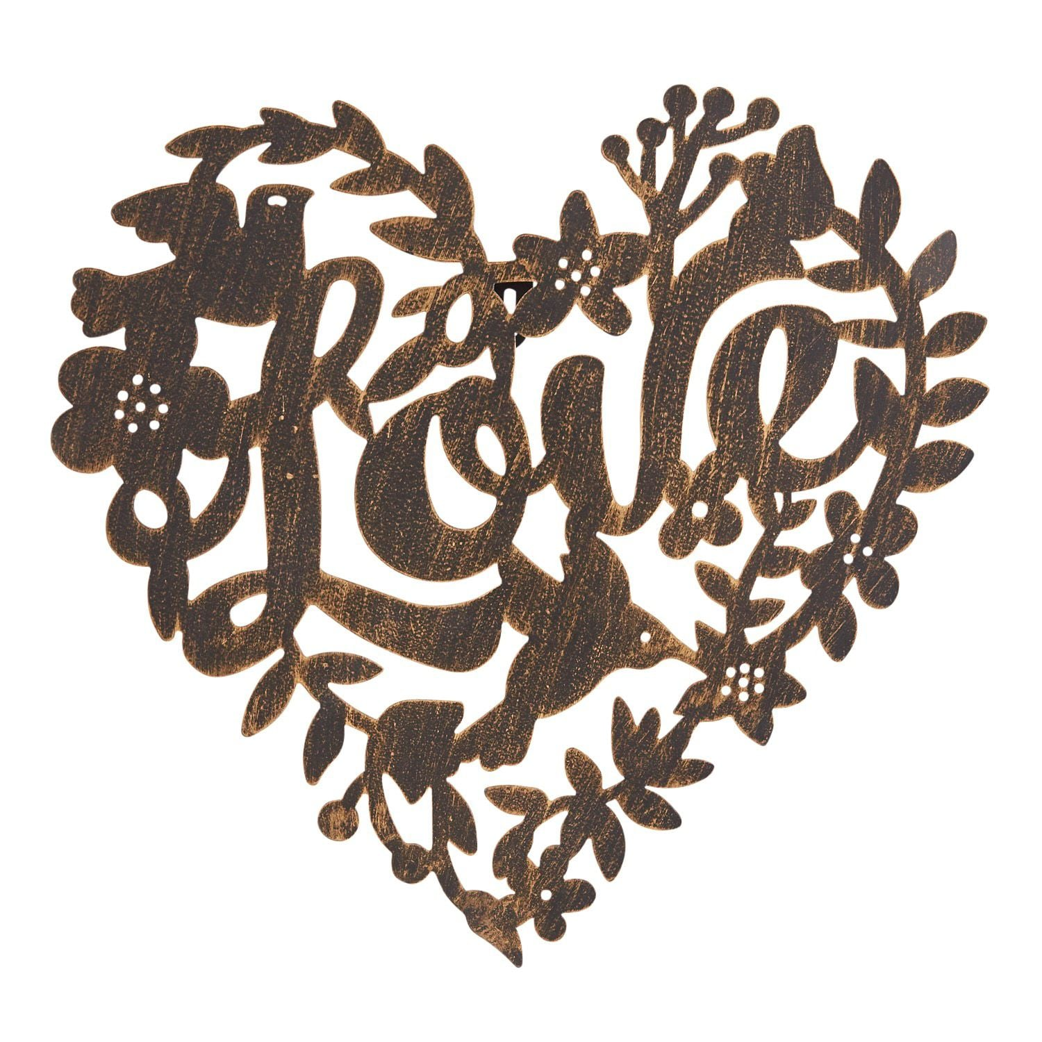 Bronze Metal Love Heart Wall Decor Wait Did You Know Pier