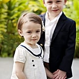 Adorable Flower Girls and Ring Bearers Kissing
