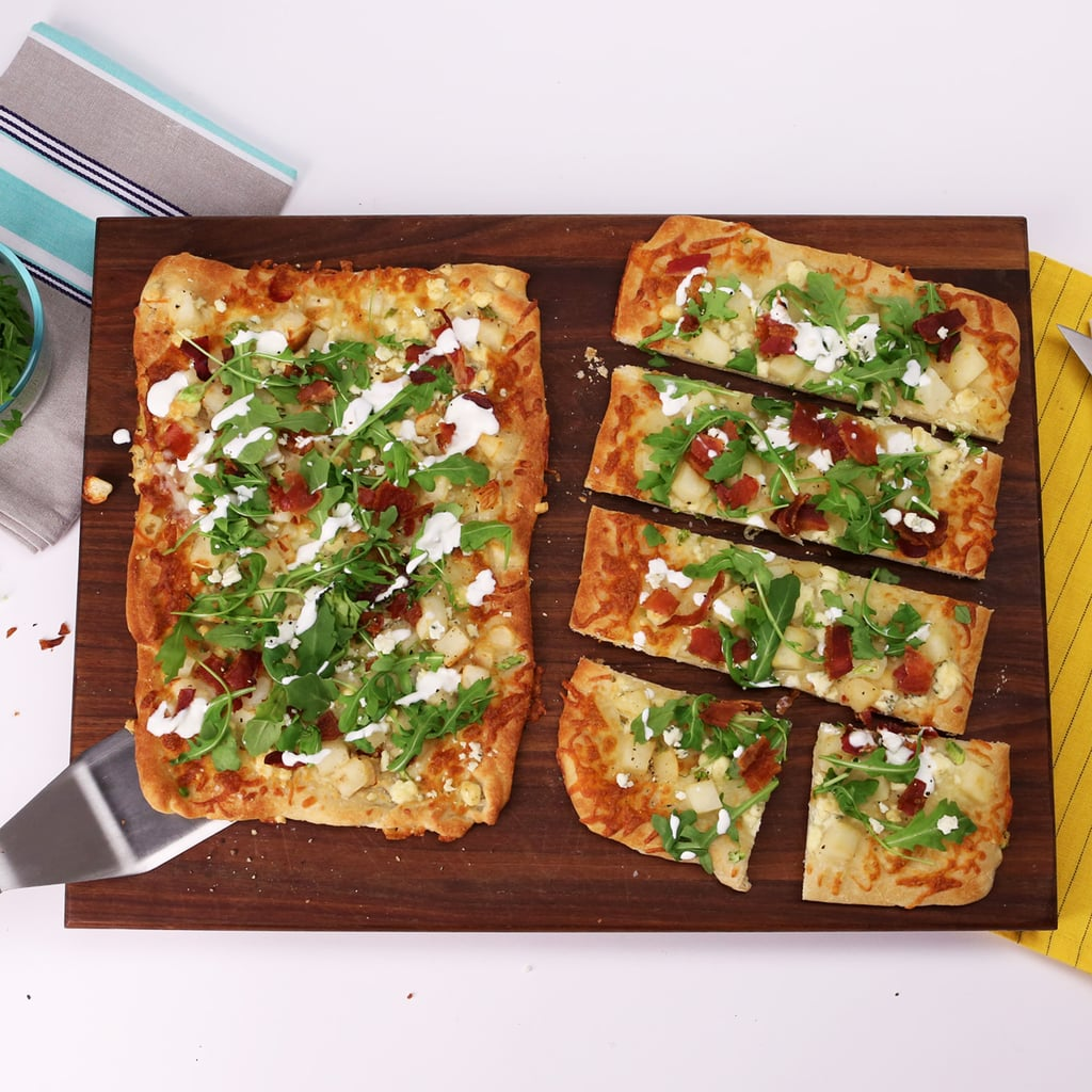 Bacon, Blue Cheese, and Arugula Flatbread