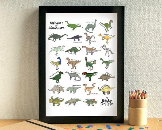 Dinosaur Alphabet Print