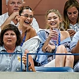 Bella and Gigi at the US Open