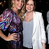 Jenna Fischer and Busy Philipps were all smiles for photographers.
