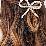 Barrettes: DesignB London Faux-Pearl Bow