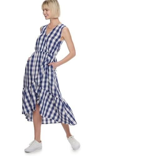 POPSUGAR Asymmetrical Ruffle Hem Dress