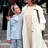 When Hallie Wears This Fabulous Powder Blue Suit For a Trip Into Town With Her Mom