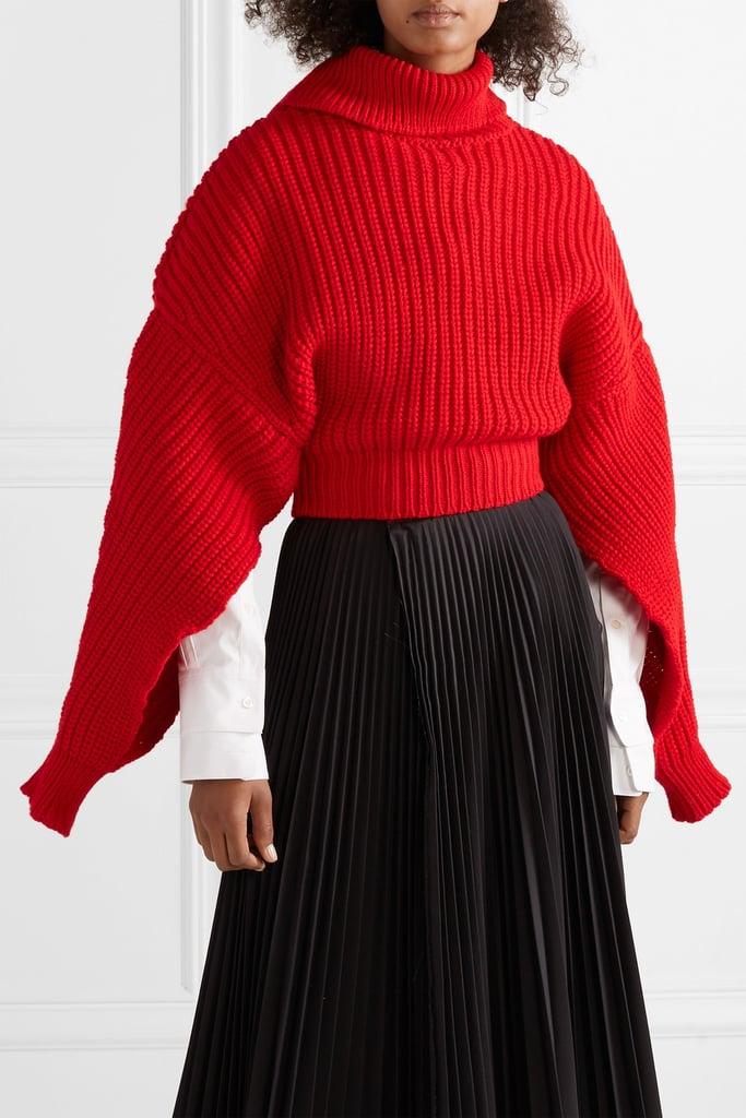 77336e1d3d3 A.W.A.K.E. Cropped Oversize Wool Turtleneck Sweater | Priyanka ...
