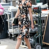 Taylor Swift wore a floral frock during an NYC stroll on Monday.