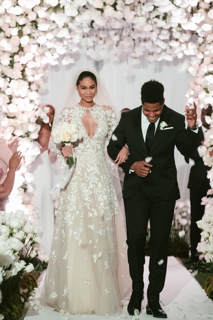 f955c0b4f9a7 Chanel Iman Zuhair Murad Wedding Dress | POPSUGAR Fashion