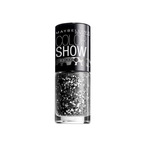 Get instant nail art with Maybelline's Color Show Polka Dots in Clearly Spotted ($3). The clear nail polish is speckled with white and black pieces of varying sizes of glitter for a graffiti-like look. Wear it alone, or top off your favorite polish for a spotted finish.