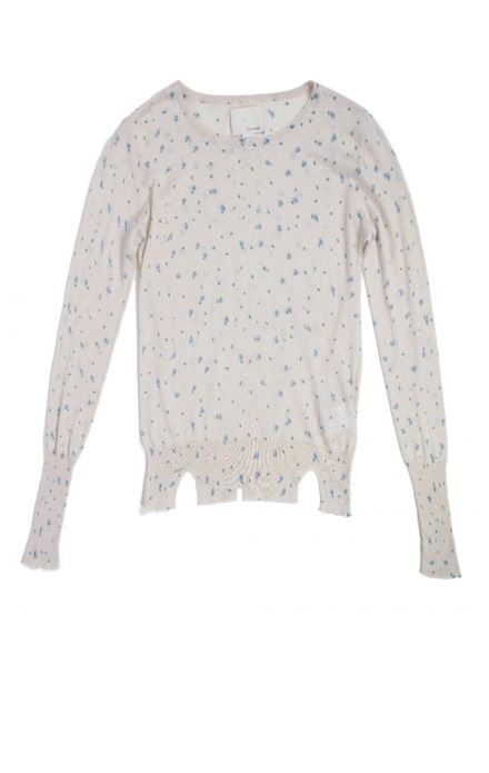 We love the supersoft feel of this sweater, almost like one of our favorite worn-in tees, not to mention the adorable all-over florals.  girl. by Band of Outsiders Floral Crewneck ($305)