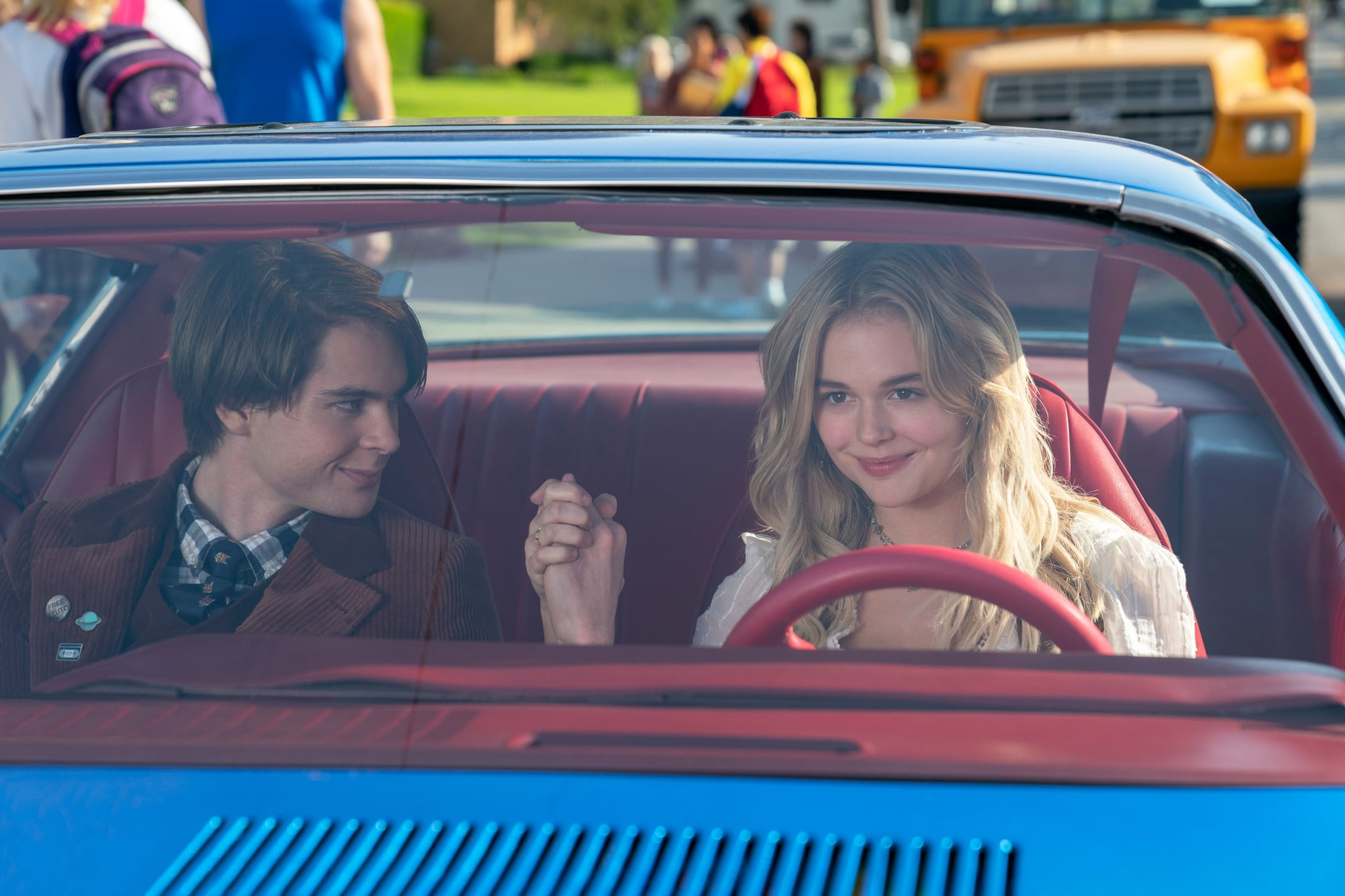THE BABYSITTER: KILLER QUEEN (L to R) JUDAH LEWIS as COLE and EMILY ALYN LIND as MELANIE in THE BABYSITTER: KILLER QUEEN. Cr. TYLER GOLDEN/NETFLIX © 2020