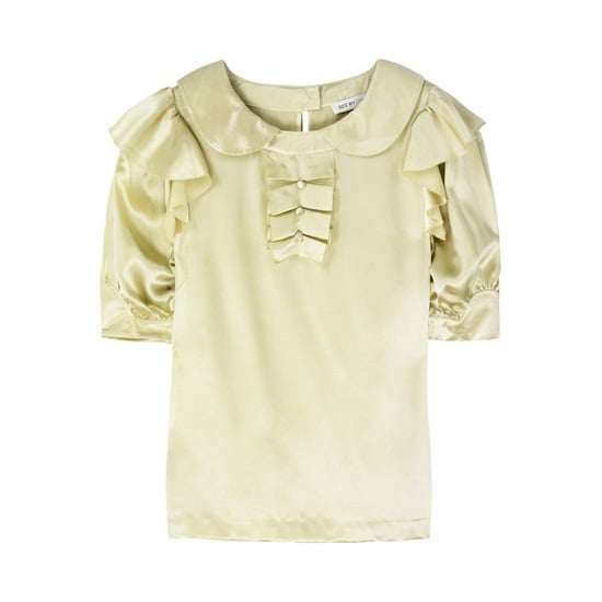 Ruffled Silk-Satin Blouse, approx $138, See by Chloé from The Outnet