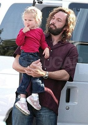 Shaggy Daddy Ben Gives Violet a Lift