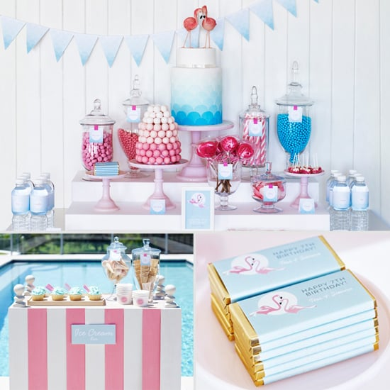 A Retro Flamingo Birthday Pool Party For Two