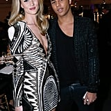 Rosie Huntington-Whiteley and Olivier Rousteing at a charity dinner hosted by the AEM Association Children of the World For Rwanda.