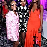 Marsai Martin, Janelle Monáe, and Issa Rae at the 2020 Essence Black Women in Hollywood Luncheon