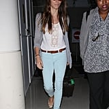 Jessica Biel made her way out in LA.