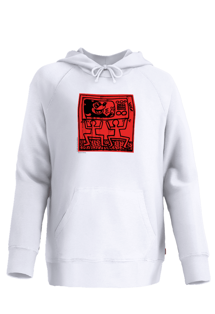 Levi's Women's Keith Haring X Mickey TV  Fleece Hoodie