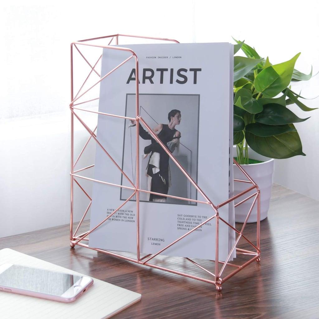 Large Desktop Magazine Holder Rack | Best Home Organizers on