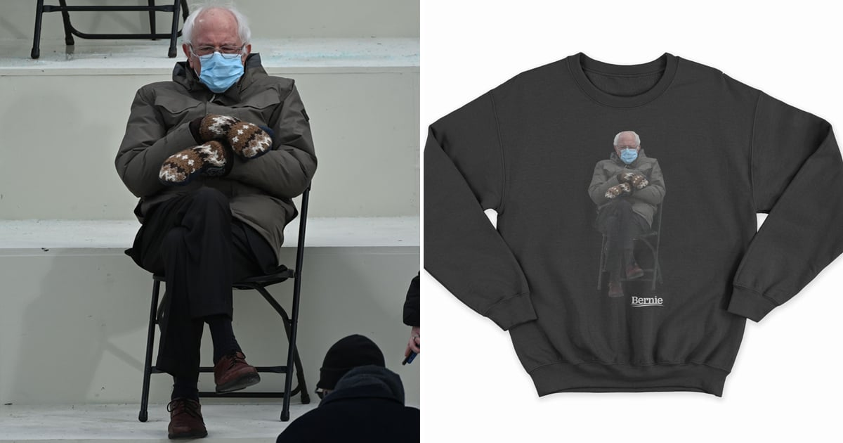Bernie Sanders Turned His Inauguration Meme Into a Cozy Sweatshirt to Raise Money for Charity