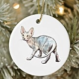 Sphynx Cat Christmas Ornament
