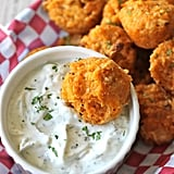 Buffalo Chicken Quinoa Bites With Blue-Cheese Greek Yogurt Sauce