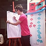 Brad Goreski played games with shoppers at Kate Spade's FNO party in NYC. Source: Instagram user katespadeny