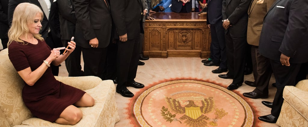 How 1 Picture of Kellyanne Conway in the Oval Office Sent the Internet Into a Tailspin