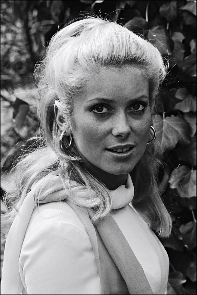 The legendary Catherine Deneuve posed for photos in 1965.