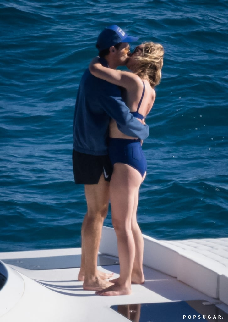 Olivia Wilde Kissing Harry Styles Wearing Blue Bikini Italy