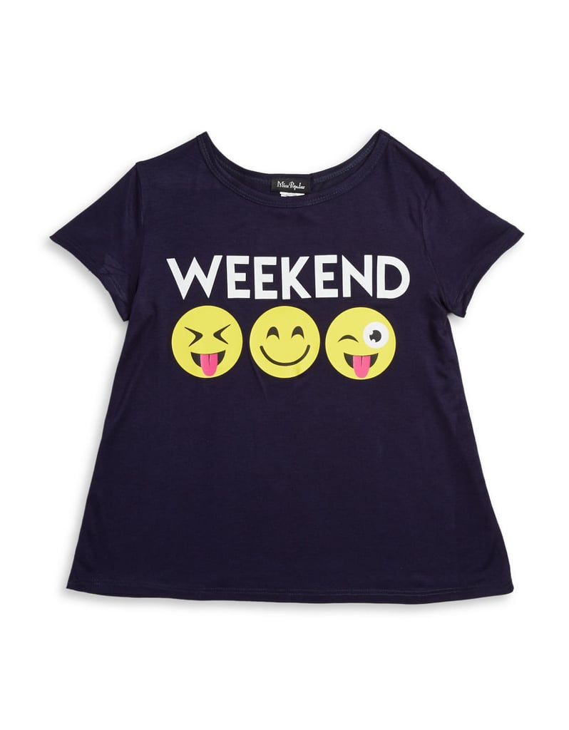 6b0979b3f Weekend Emoji Tee | Emoji Back to School Supplies and Clothes ...