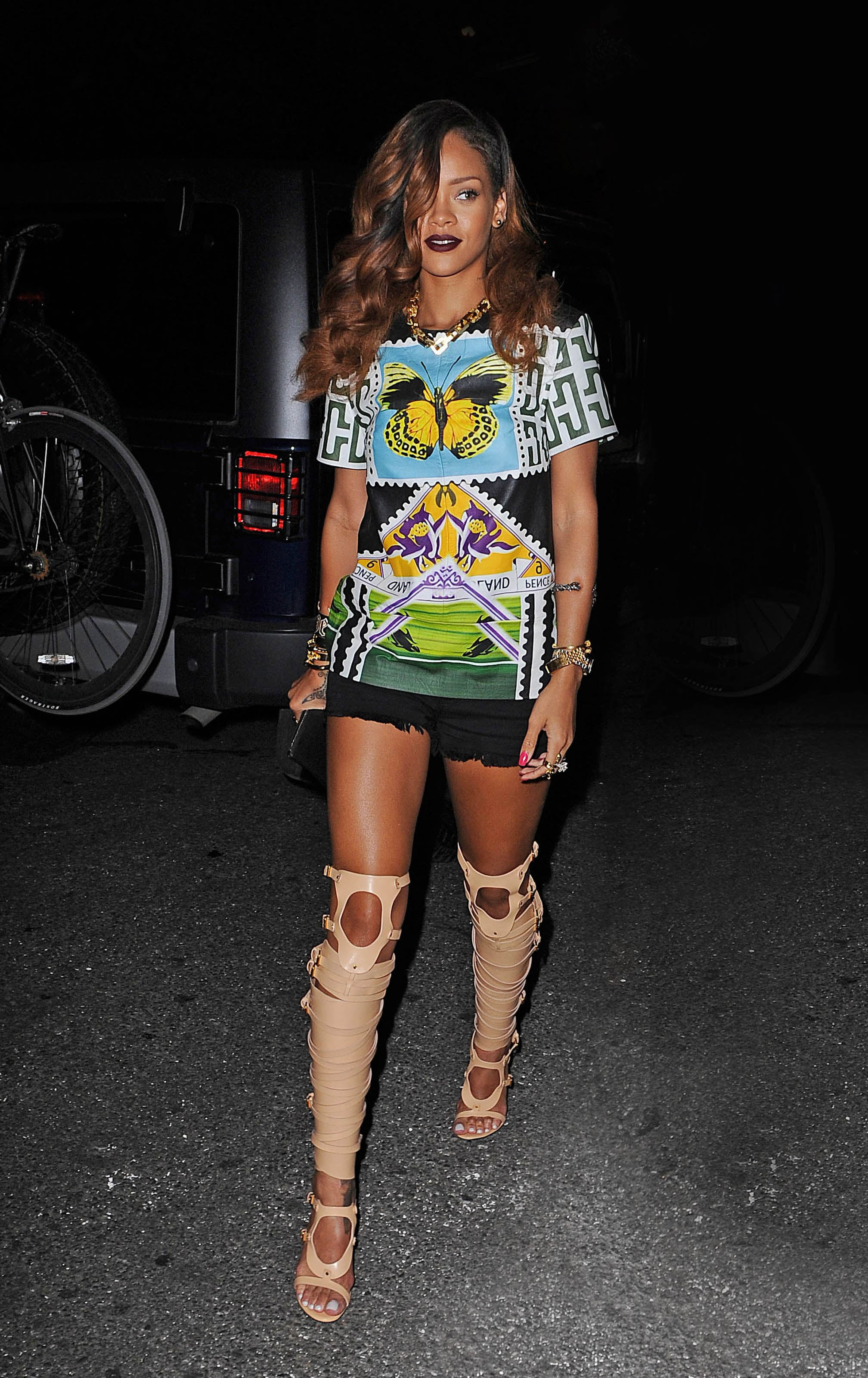 Rihanna stepped out in not one, but two statement-making ...