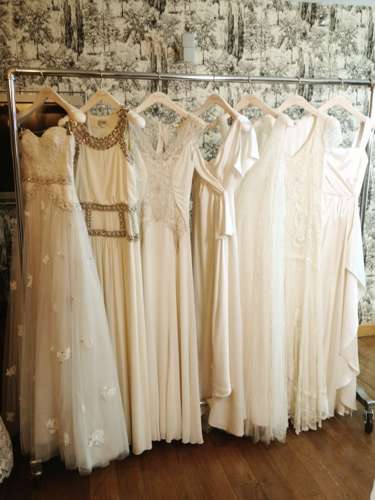 The full array of beautiful wedding gowns in the Temperley Bridal Florence collection.