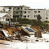 June 6: Storms across Sydney, NSW, destroyed homes along the shore in Collaroy.