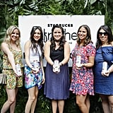 Navy blue and floral prints dominated at the POPSUGAR x Starbucks Refreshers party.