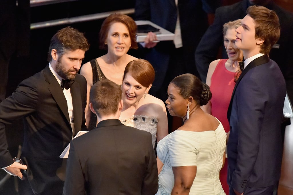 Julianne Moore Chatted Up Octavia Spencer While Ansel Elgort Stood Nearby