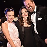 Pictured: Millie Bobby Brown, Winona Ryder, and David Harbour