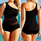 One-Shoulder Black Swimsuit