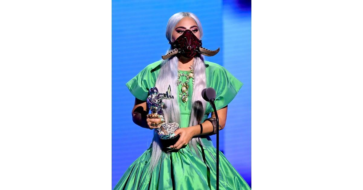 Lady Gaga's Face Mask With Horns at the 2020 VMAs | Lady ...