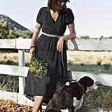 Maeve Breanna Polka-Dot Midi Dress